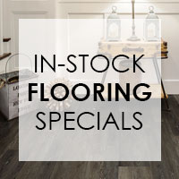 We have instock specials on all our flooring - vinyl plank & tile, hardwoods, laminate, ceramic & porcelain tile, carpet & carpet tile, sheet vinyl