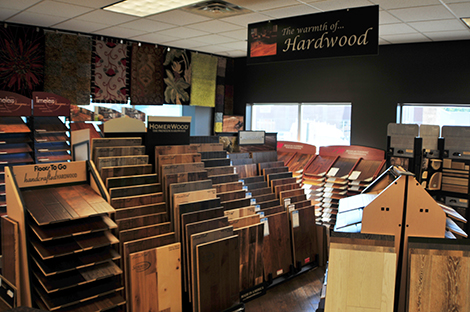 The showroom of Sommers Interiors.