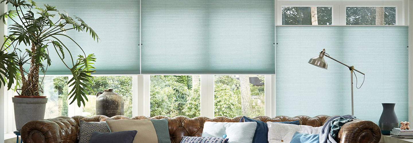 Sommers Interiors features window coverings from Hunter Douglas and Graber